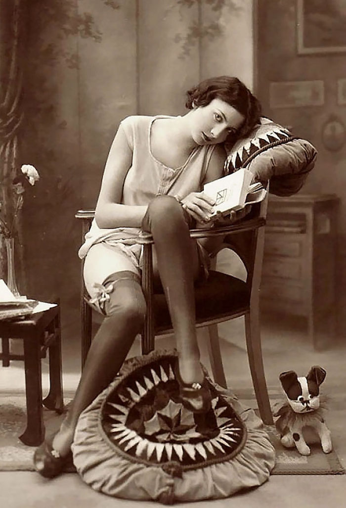 Unknown Lady With Book