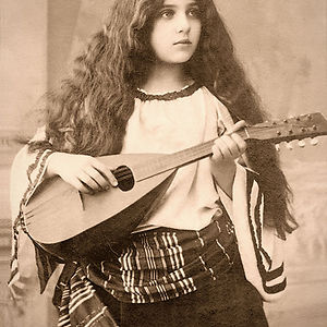 Gypsy Girl With Mandolin