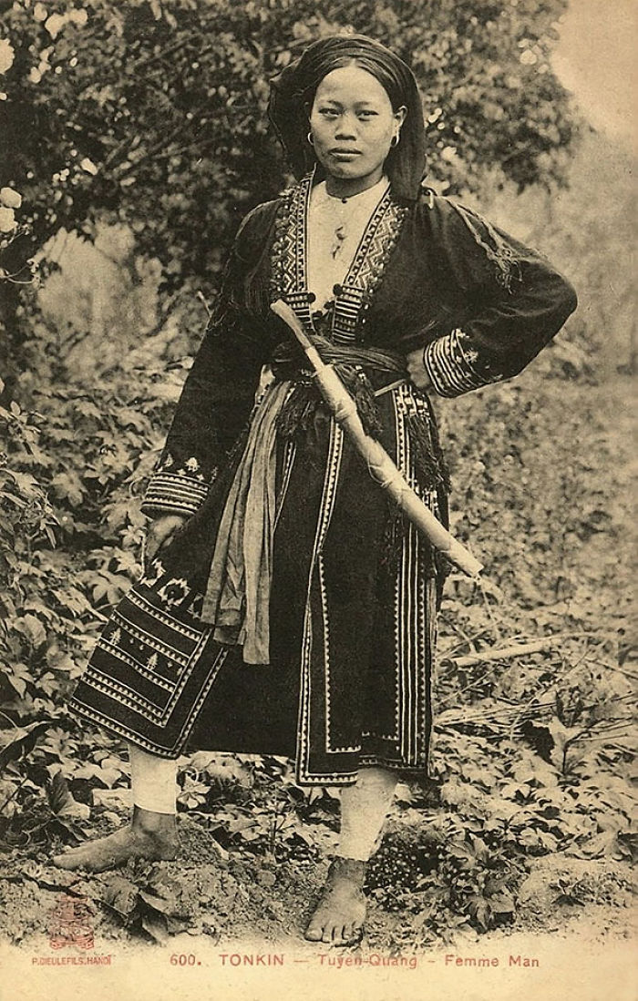 Young Vietnamese Woman With Sword