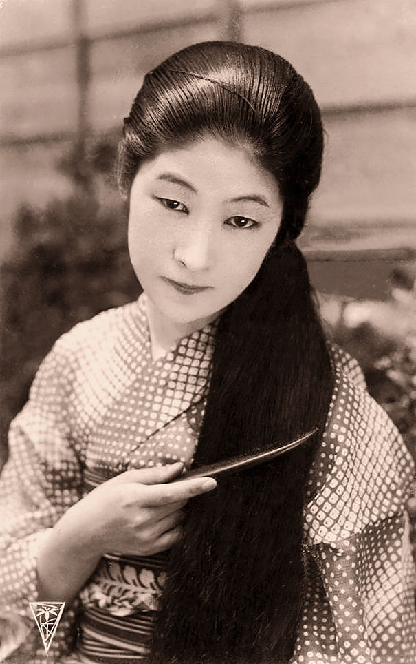 Unknown Japanese Lady With Long Hair