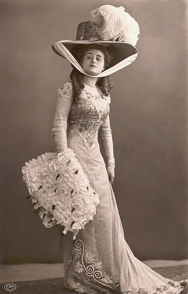 Unknown Lady With Big Hat