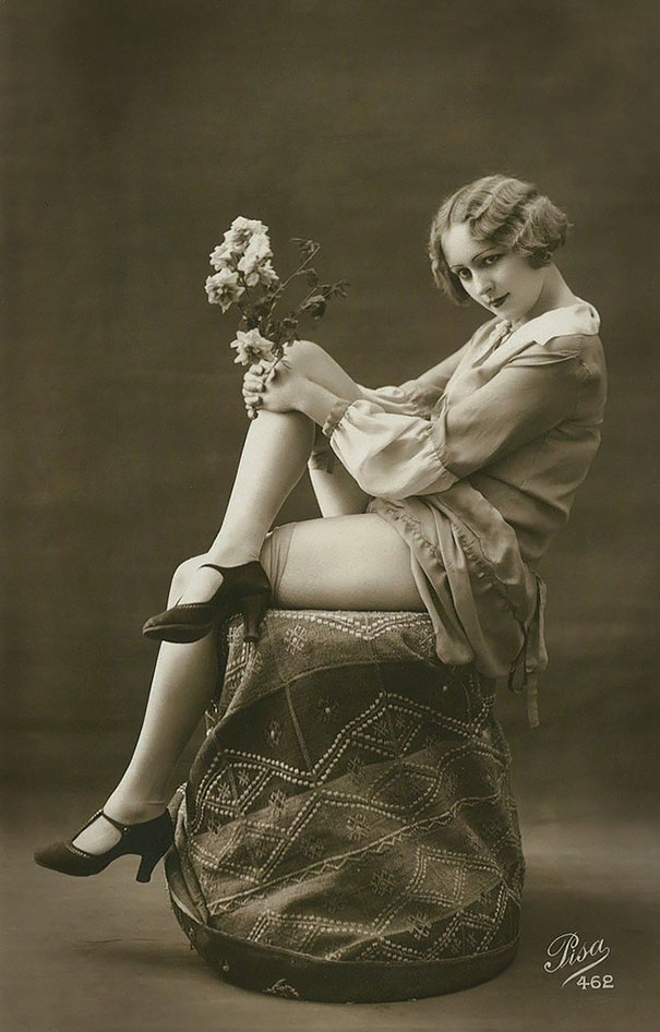 Unknown Lady With Flowers