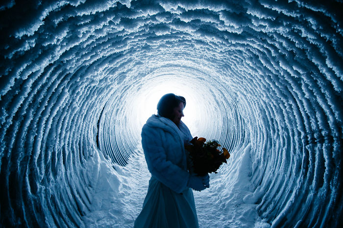 'I Do' Inside A Glacier In Iceland