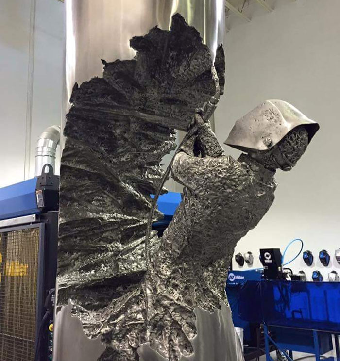 Welder Spends Hundreds Of Hours Turning Metal Into Stunning Art