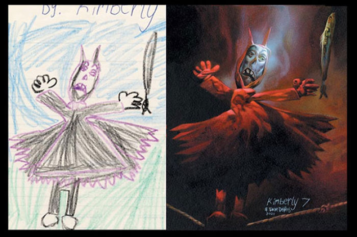 What Children's Drawings Would Look Like If They Were Painted Realistically
