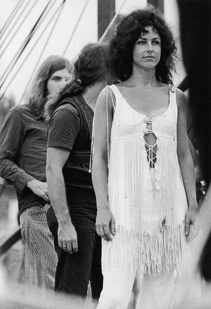 American Singer/ Songwriter Grace Slick With Psychedelic Rock Group Jefferson Airplane