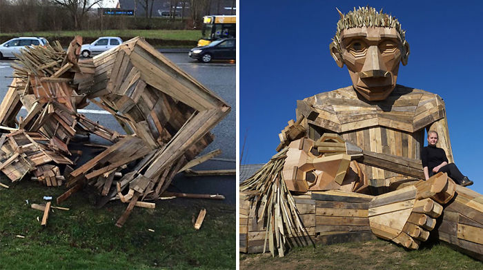 14-Year-Old Girl Saved My Sculpture After It Was Destroyed In A Storm