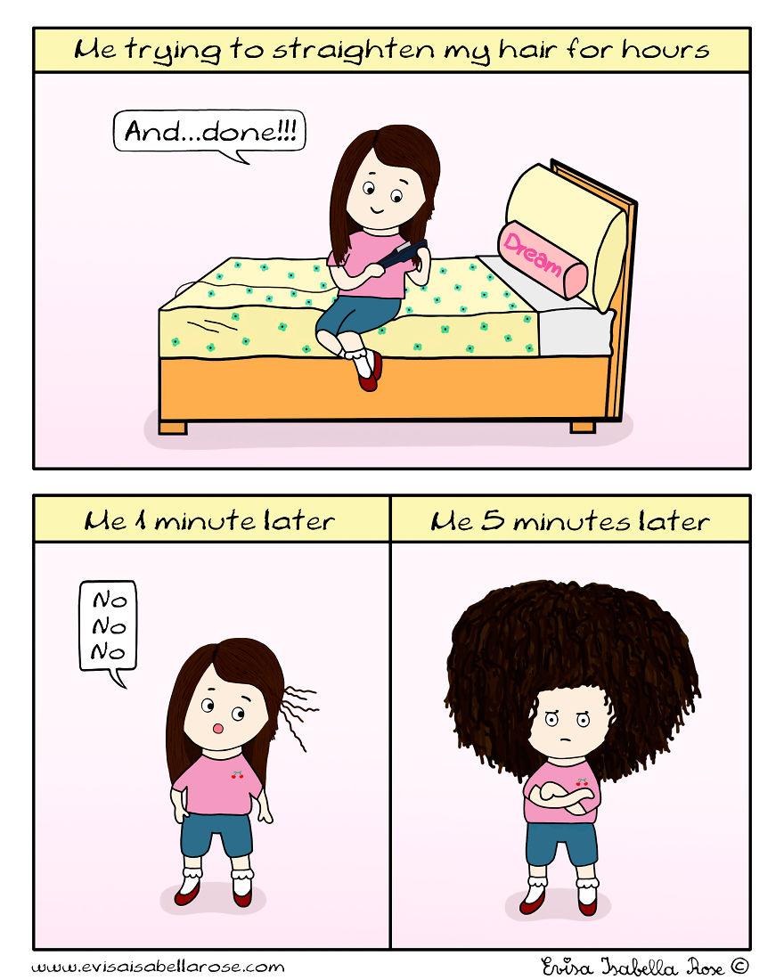 Trying To Straighten My Hair