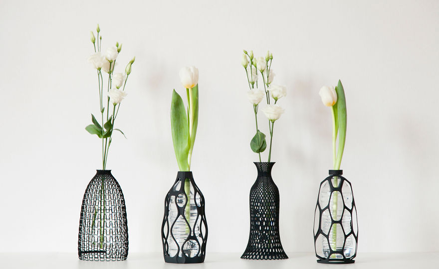 I 3d Print Vases To Give Plastic Bottle A Second Life