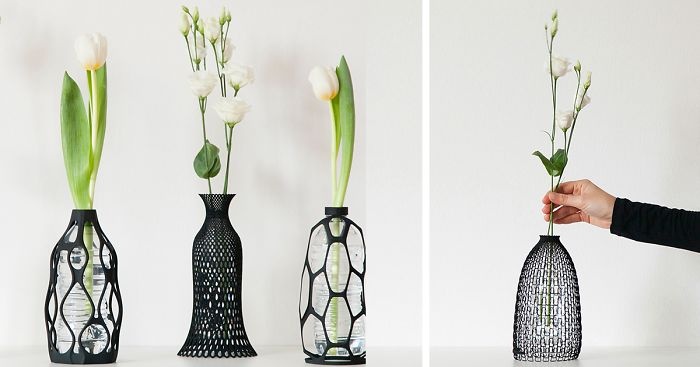 I 3d Print Vases To Give Plastic Bottle A Second Life Bored Panda