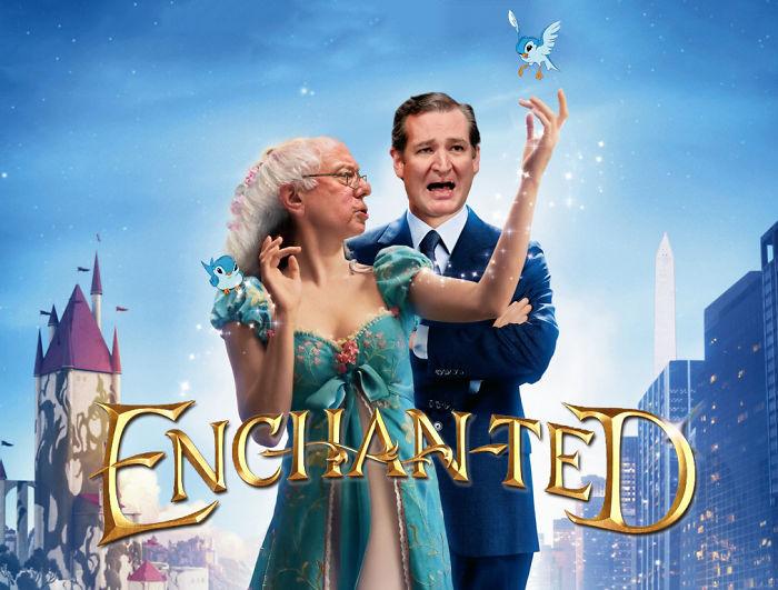 Enchanted Bernie And Cruz