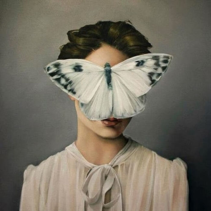 Mysteriously Surreal Paintings Of Faceless Women Shadows By Nature And Wildlife