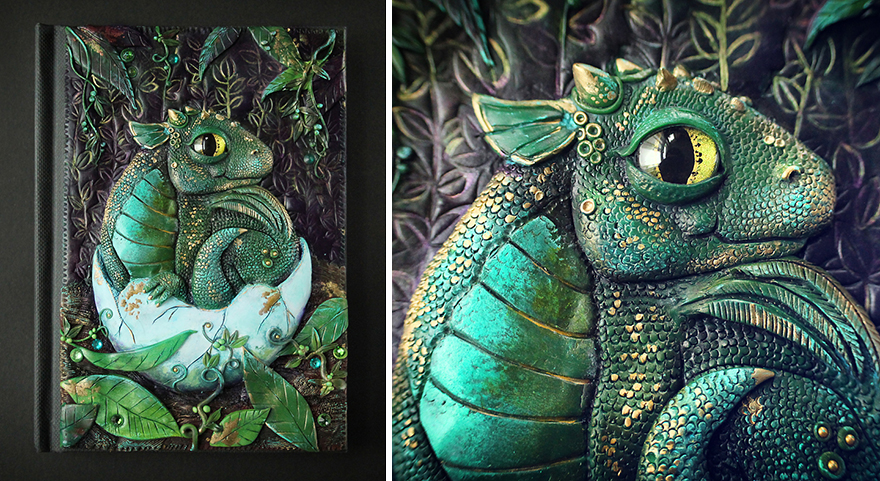 Bored panda helped me quit my day job to make fantasy book covers the baby dragon journal is a very cute little thing and i actually have a tutorial available on making a journal like that yourself solutioingenieria Image collections