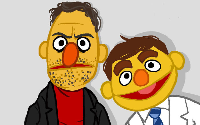Bert And Ernie After Joining Fight Club