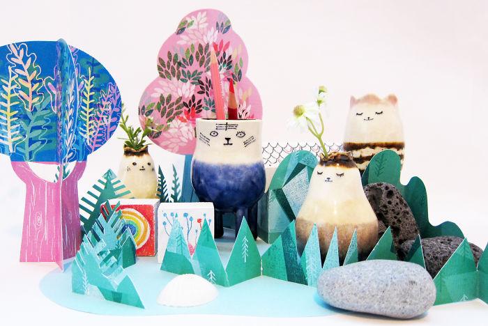 I Create Colourful Illustrations With Ceramics