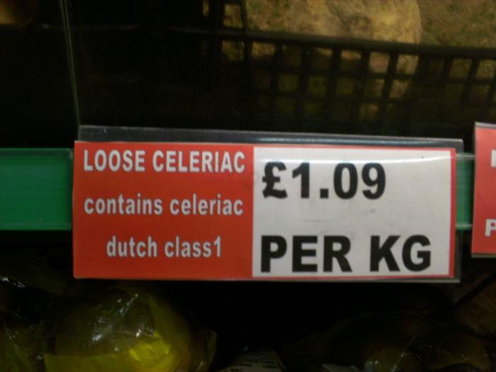 Celeriac Warning