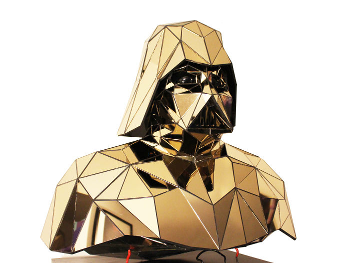 I Made A Golden Plated Geometric Sculpture Of Darth Vader