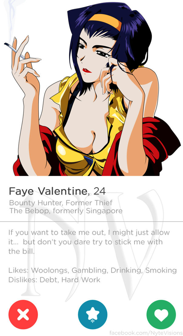 Anime Characters Were On Tinder