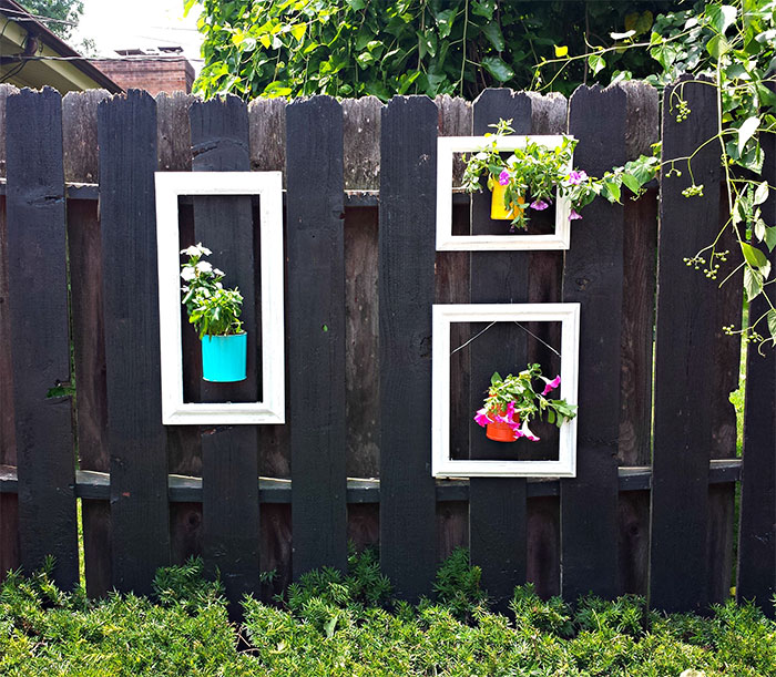 Picture Frames Fence Decor