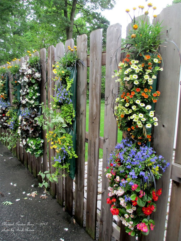 Flower Fence Decor