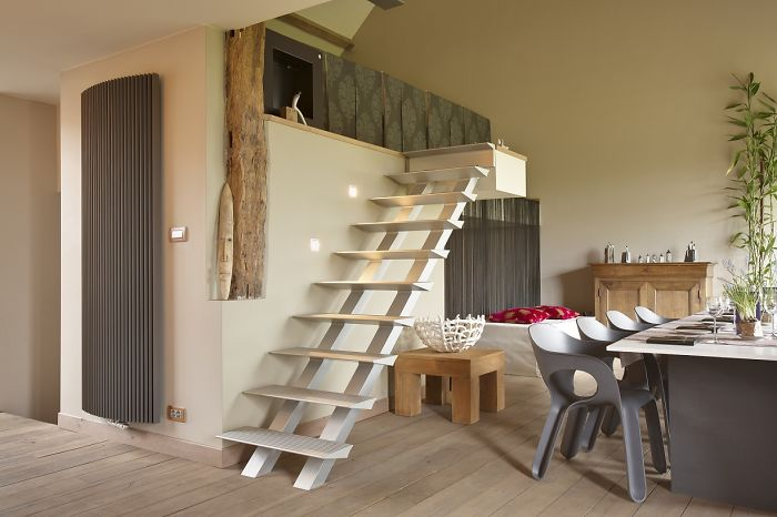 Modern Stair In A Rural Home