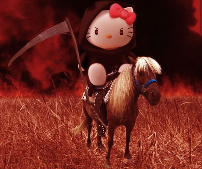 Hello Kitty Going To Work At Her Secret Job