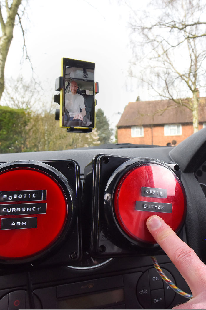 British Inventor Unveils Bizarre Devices Aimed At Improving The Experience Of Driving Overseas