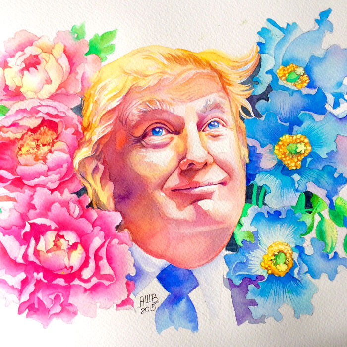 I've Painted Donald Trump To Illustrate Our Letter To Him