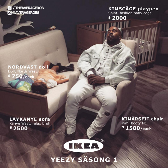 Breaking: Ikea Just Released Their First Collection With Kanye West.
