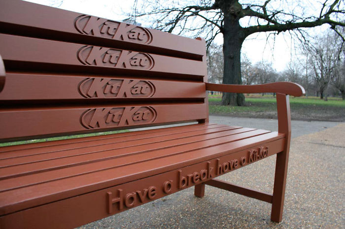 Perfect Bench For A Chocolate Break
