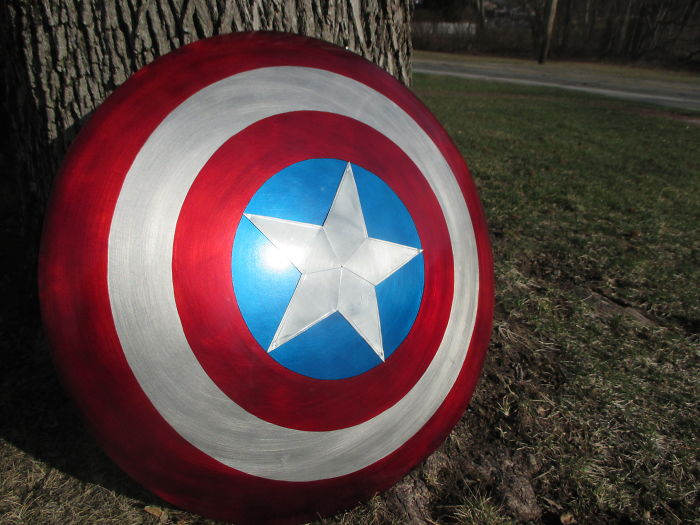 I Made A Captain America Shield From A Sled