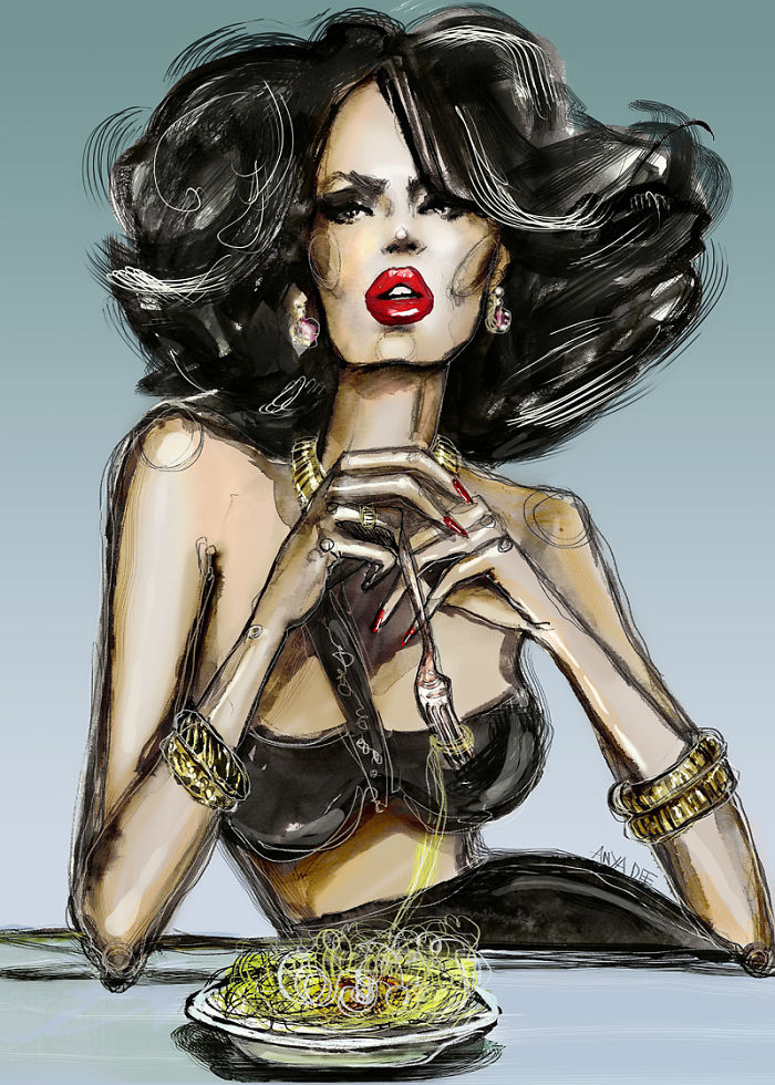 Fashion And Beauty Mix In My Illustrations Of Femmes Fatales