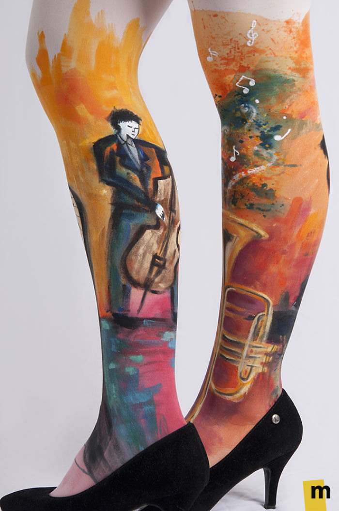 We Hand-Paint Tights That Let You Walk In A Piece Of Art