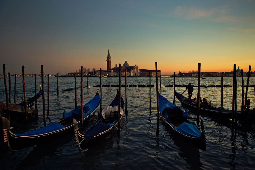 Lovely Sunset In Venice