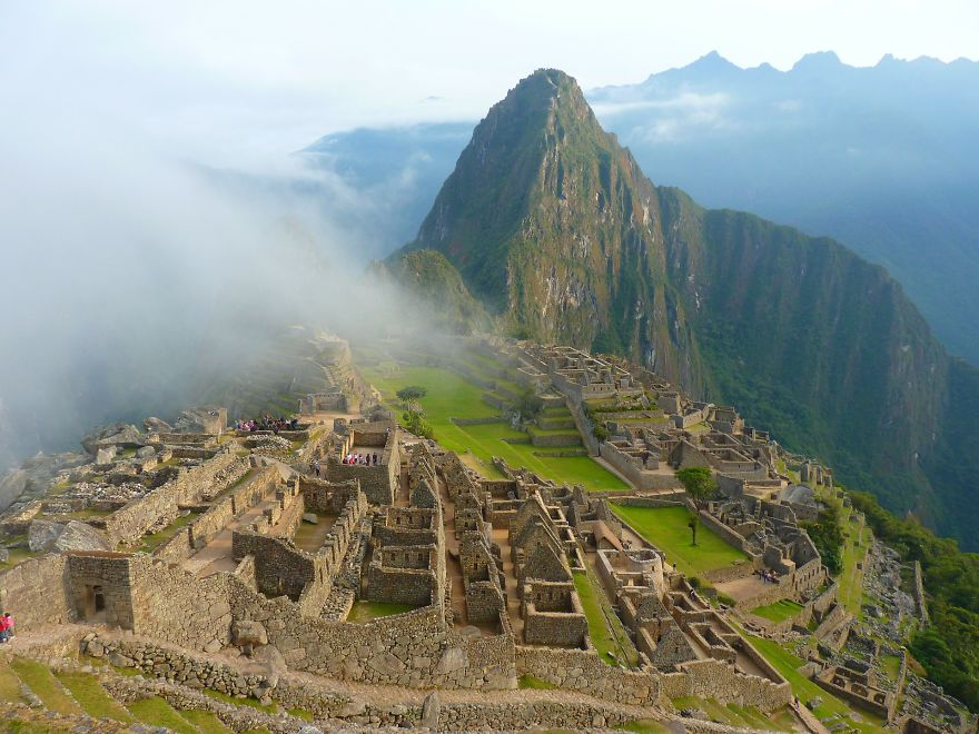 Foggy And Mysterious Machu Picchu