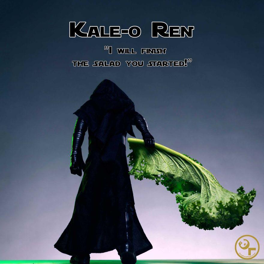 Kylo Ren + Kale = Kale-o Ren