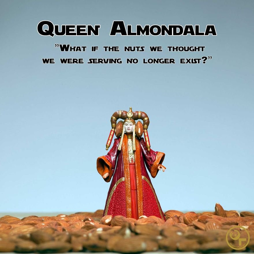 Queen Amidala +almonds = Queen Almondala