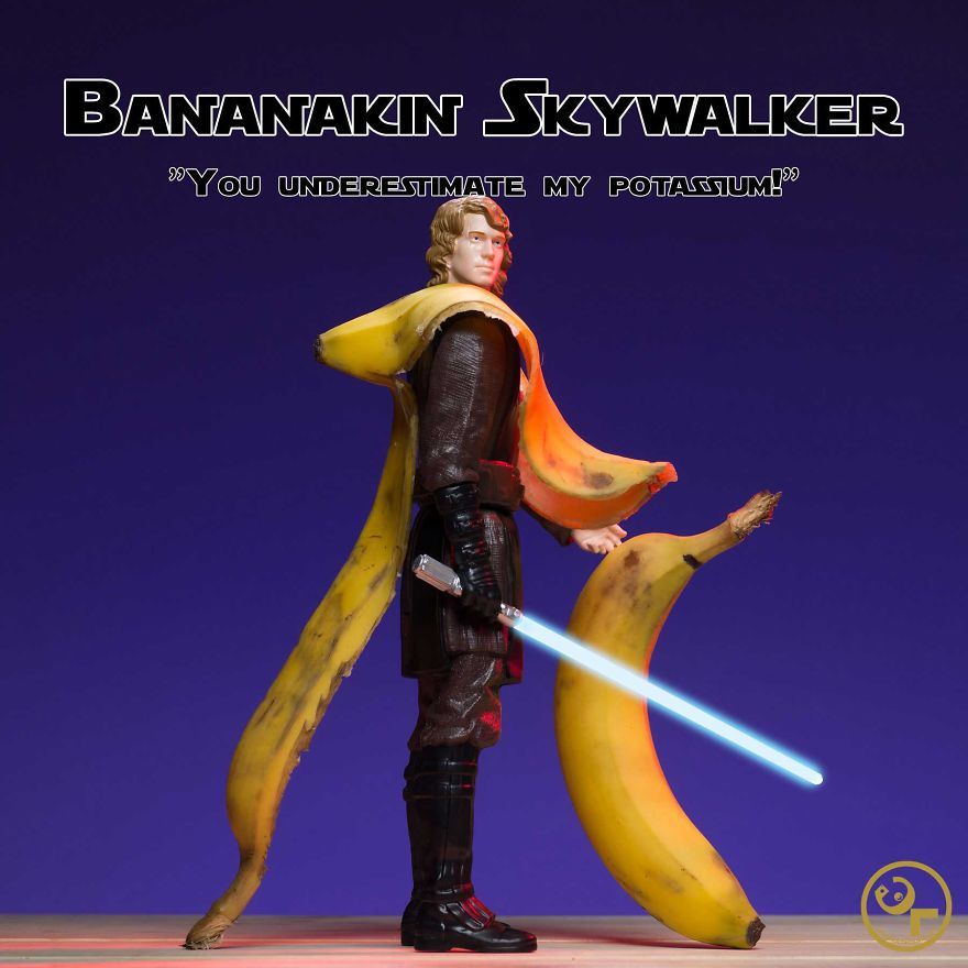 Anakin Skywalker +bananas = Bananakin Skywalker