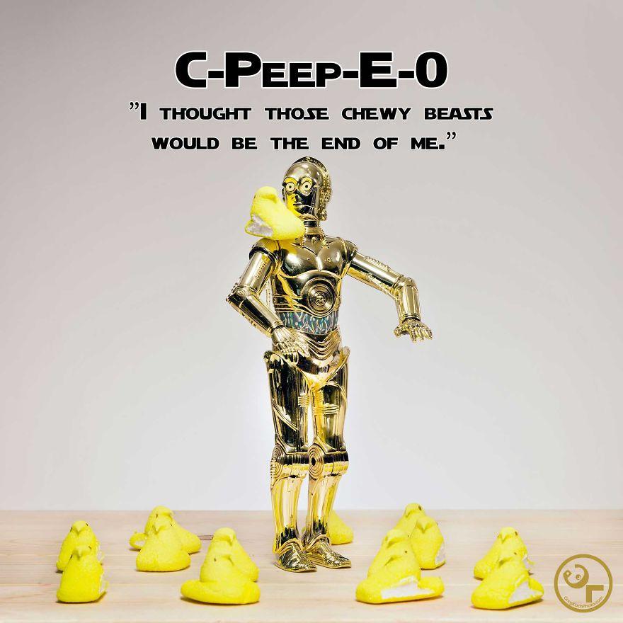 C3po +peeps = C-peep-e-o