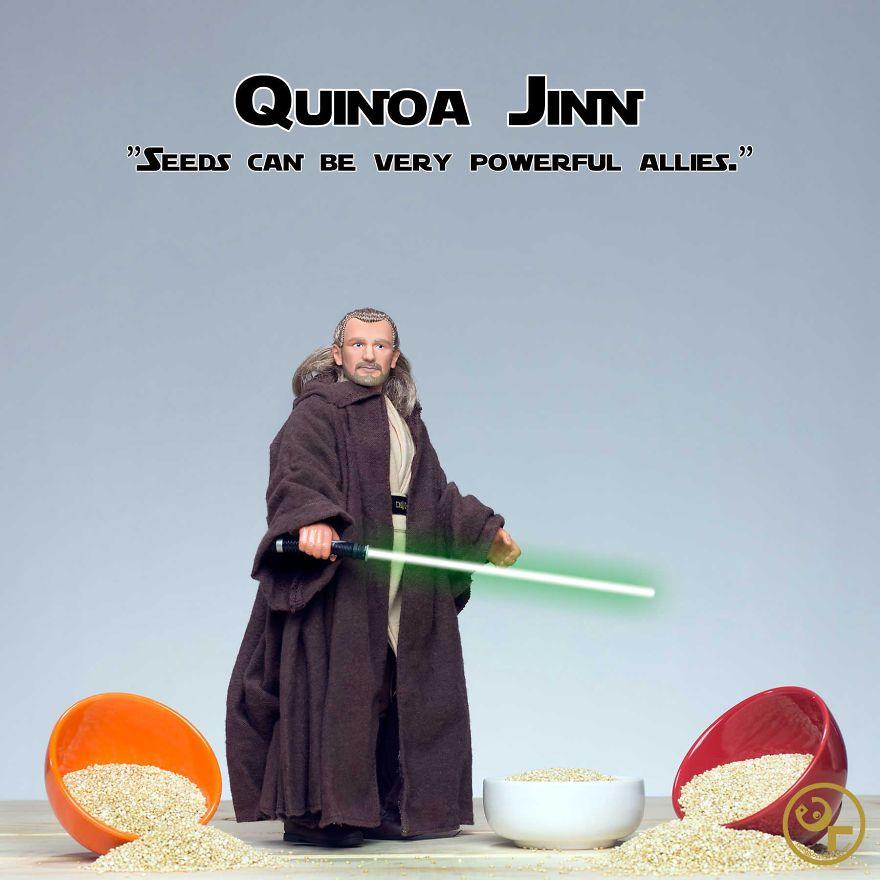 Qui-gon Jinn + Quinoa = Quinoa Jinn