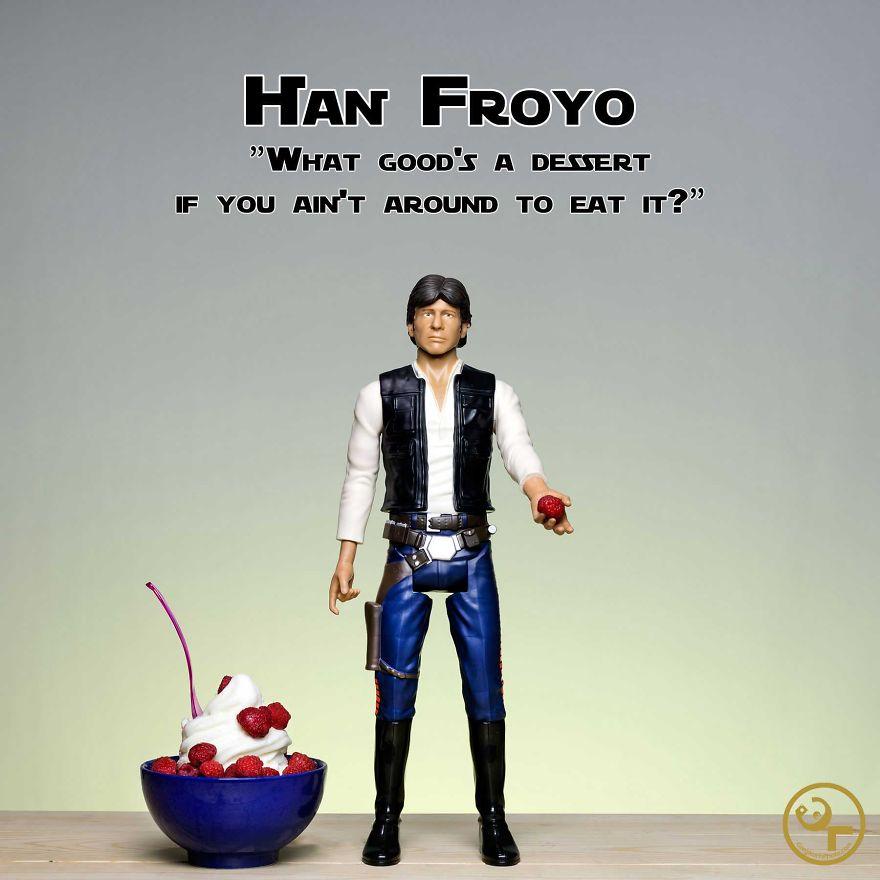 Han Solo + Frozen Yogurt = Han Froyo