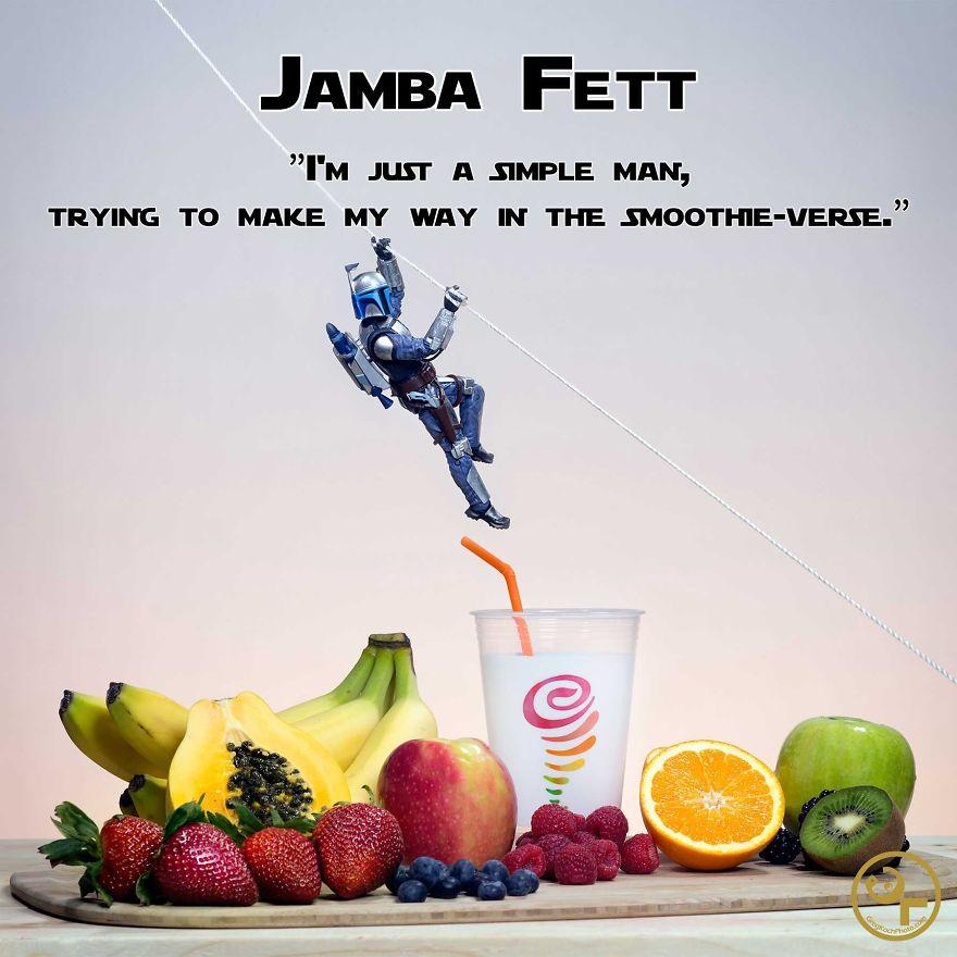 Jango Fett +jamba Juice = Jamba Fett
