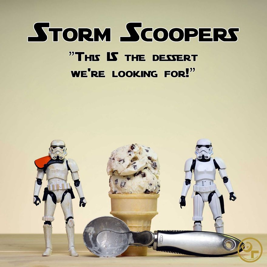 Storm Troopers + Ice Cream = Storm Scoopers