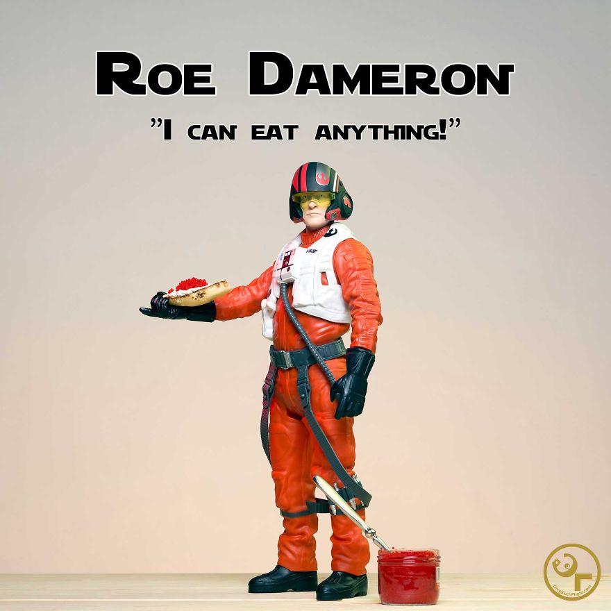Poe Dameron + Fish Eggs = Roe Dameron