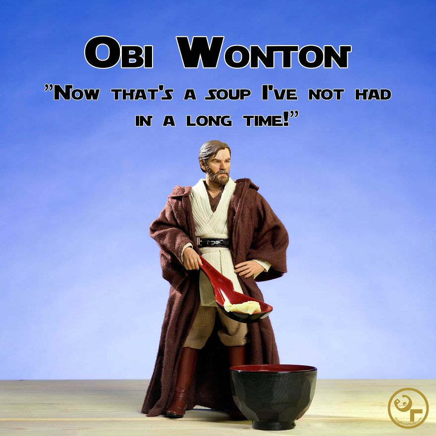 Obi Wan +wonton Soup = Obi Wonton