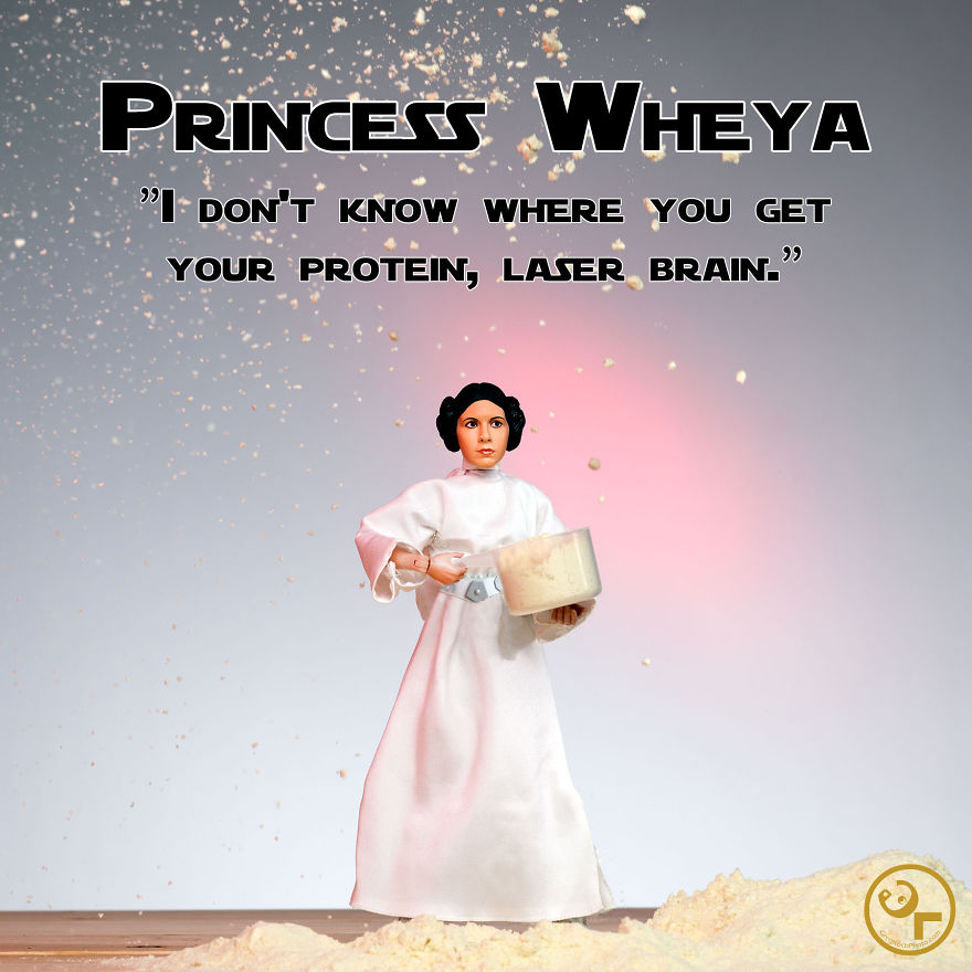 Princess Leia + Whey Protein = Princess Wheya