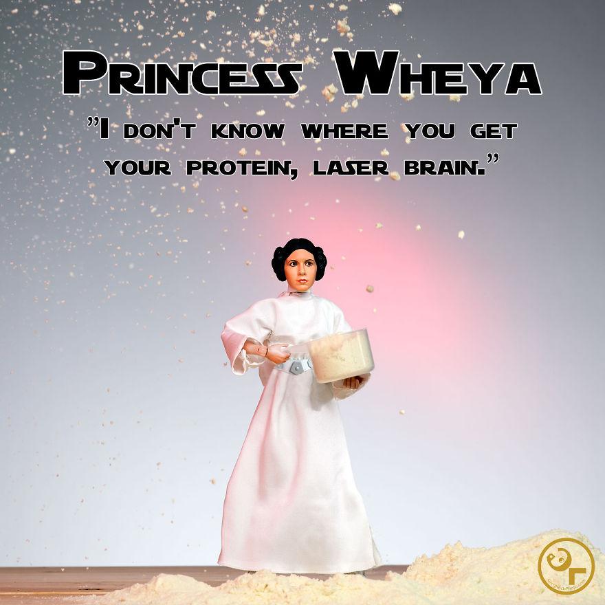 Princess Leia + Whey Protein = Princess Wheya