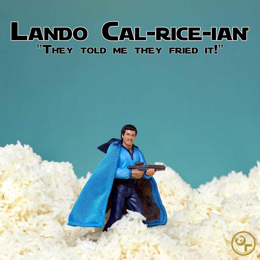 Lando Calrissian + Rice = Lando Cal-rice-ian