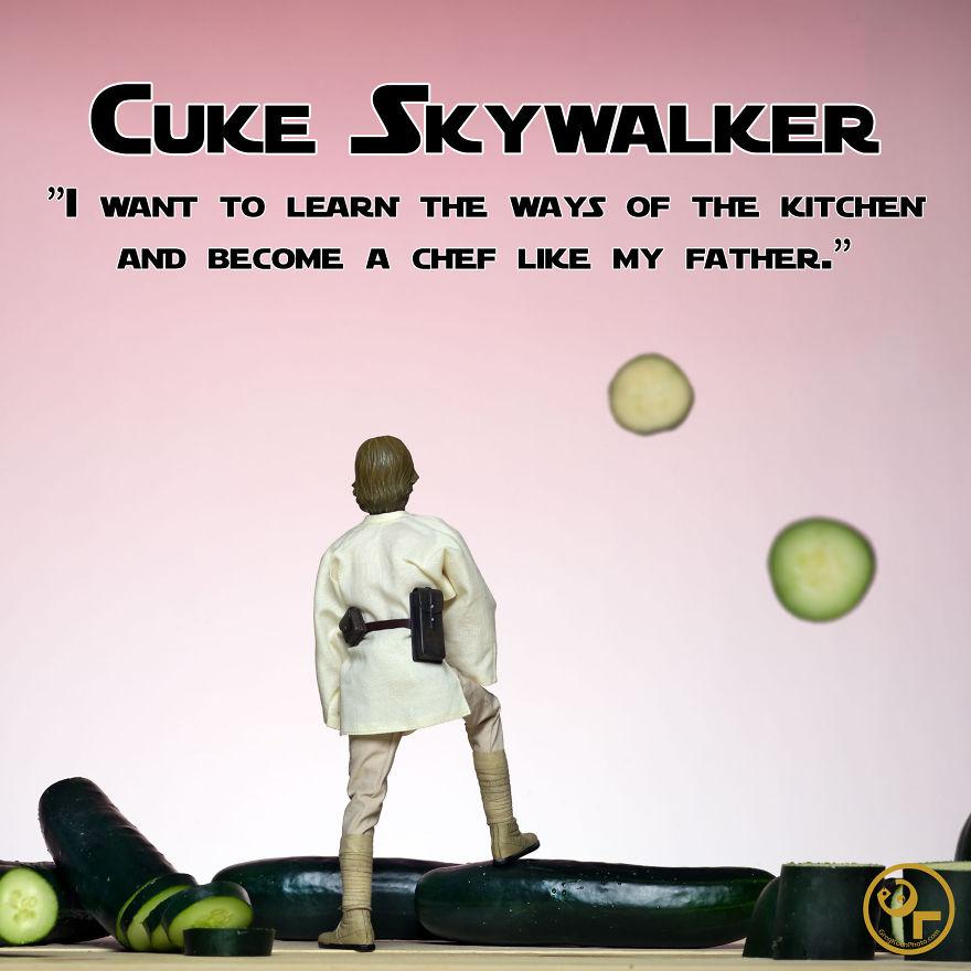 Luke Skywalker + Cucumbers = Cuke Skywalker