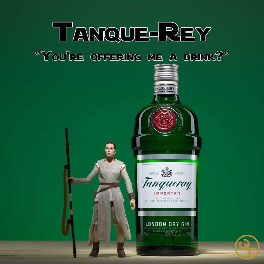 Rey + Tanqueray = Tanque-rey